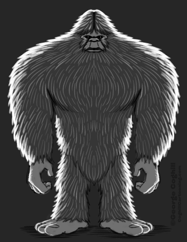 Bigfoot Full-Body Sketch 01