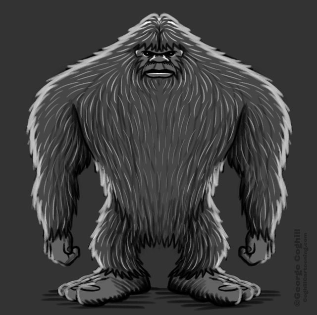 Bigfoot Full Body Sketch 02