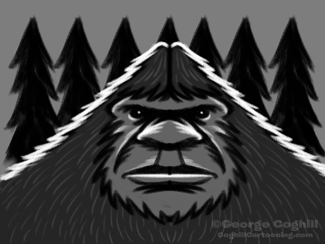 Bigfoot Head Classic - Rough Sketch 01