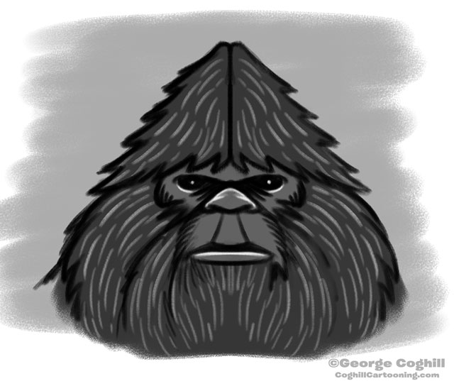 "Bigfoot Head ""Classic"": Rough Sketch 03"