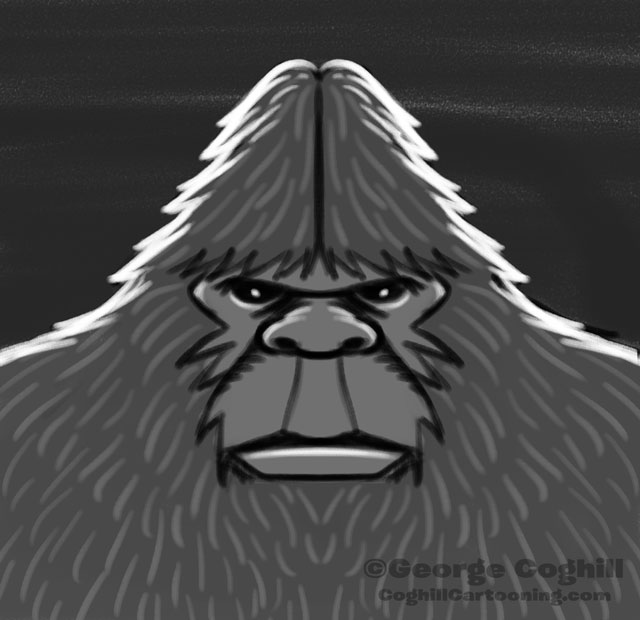"Bigfoot Head ""Classic"": Rough Sketch 05"