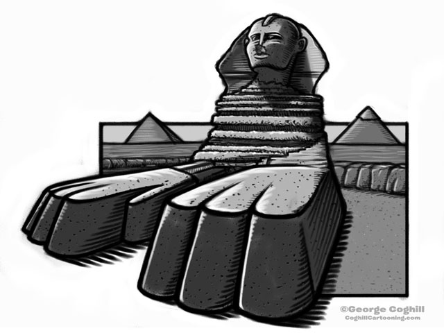 Sphinx Cartoon Sketch 3