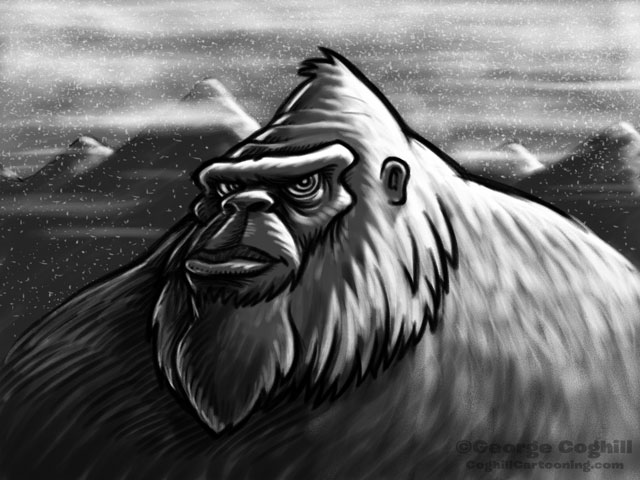 Yeti Cartoon Character Sketch 1