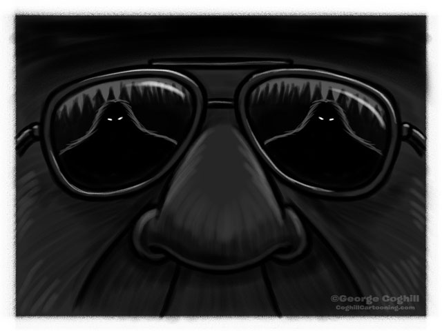 Bigfoot Patrol Ranger Sunglasses Sketch