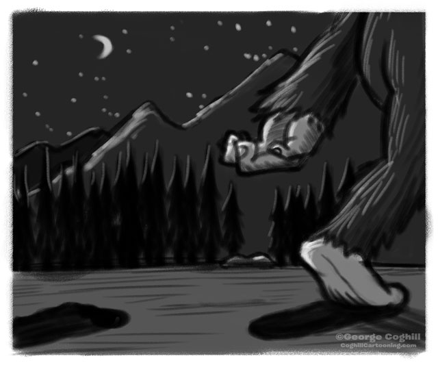Bigfoot Footprints Sketch