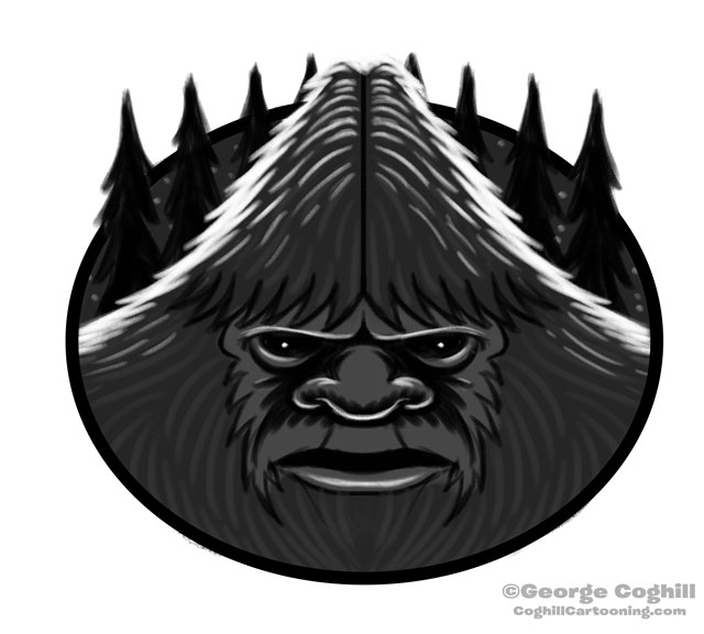 Bigfoot Head Cartoon Daily Sketch 02