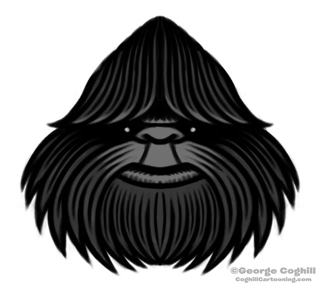 Bigfoot Stylized Head Sketch