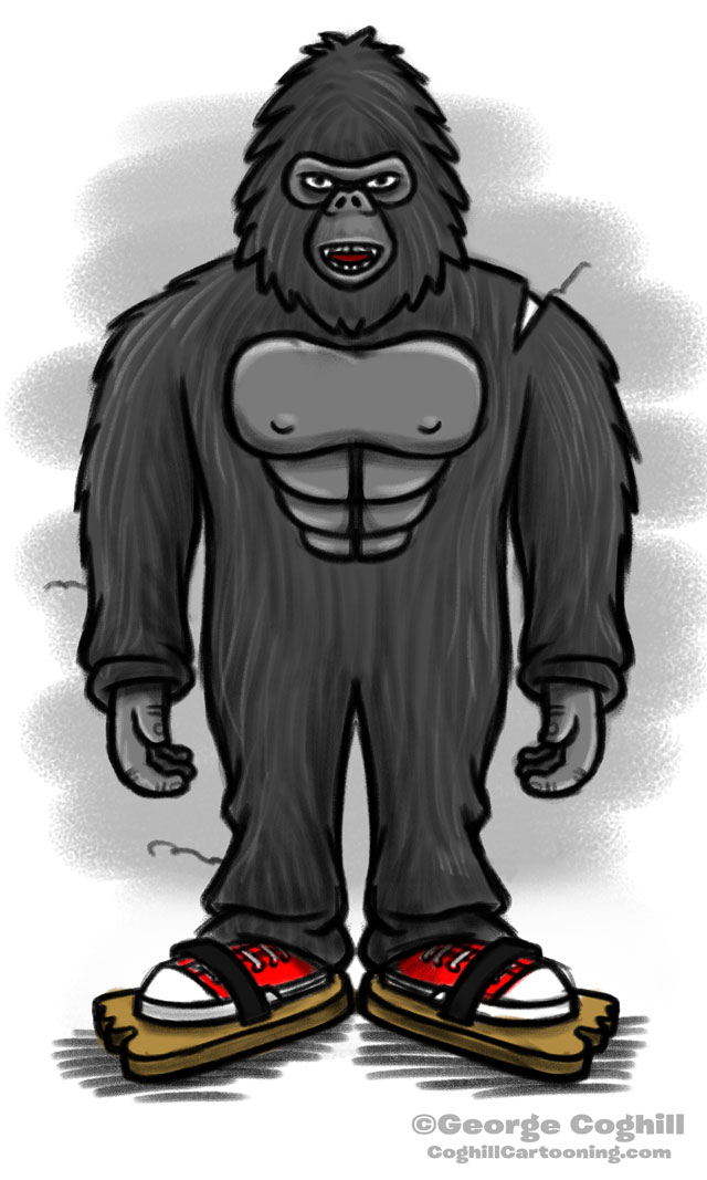 A Man In A Cheap Gorilla Suit