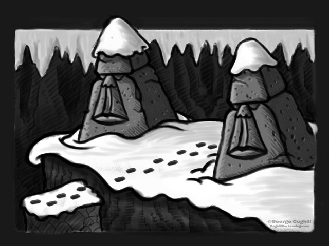 """Yeti Lair: Beyond The Sentinels Of Stone"" Cartoon Sketch"