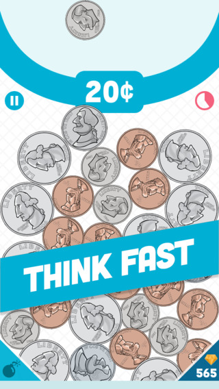Coin Crash game app cartoon coins