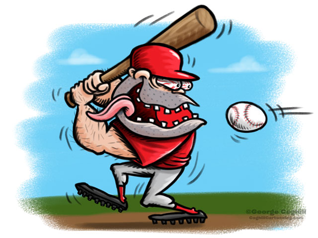 Baseball Player Hot Rod Cartoon Character Sketch 2