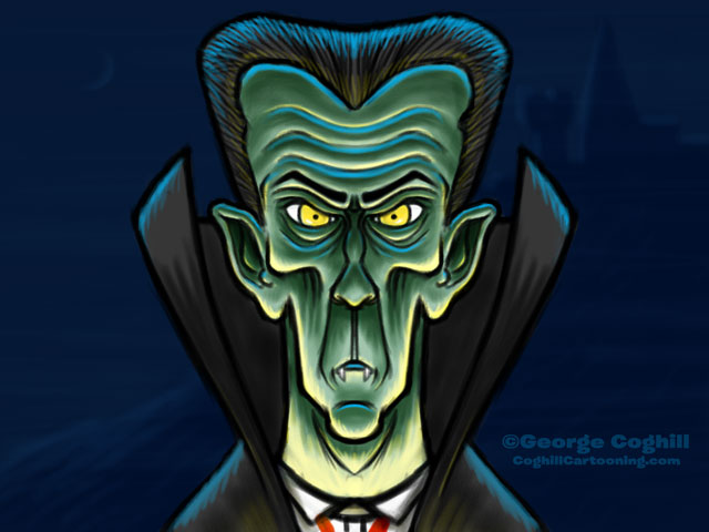Count Dracula Vampire Cartoon Character Sketch 01