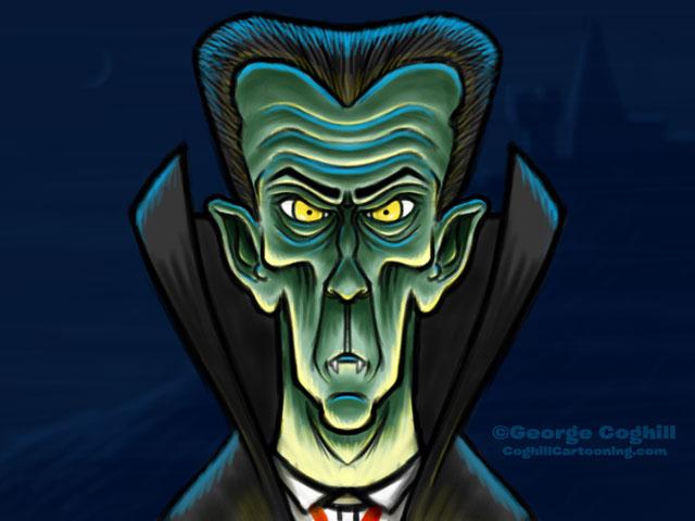 Count Dracula Vampire Cartoon Character Sketch 01