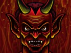 Devil Cartoon Character Sketch 01