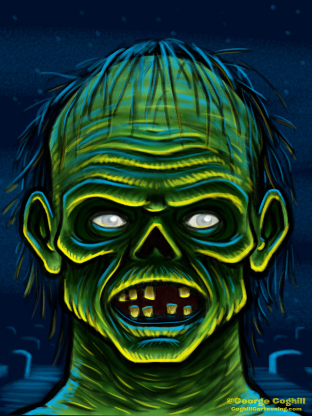 Ghoul Cartoon Character Sketch 01