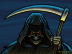 Grim Reaper Cartoon Character Sketch