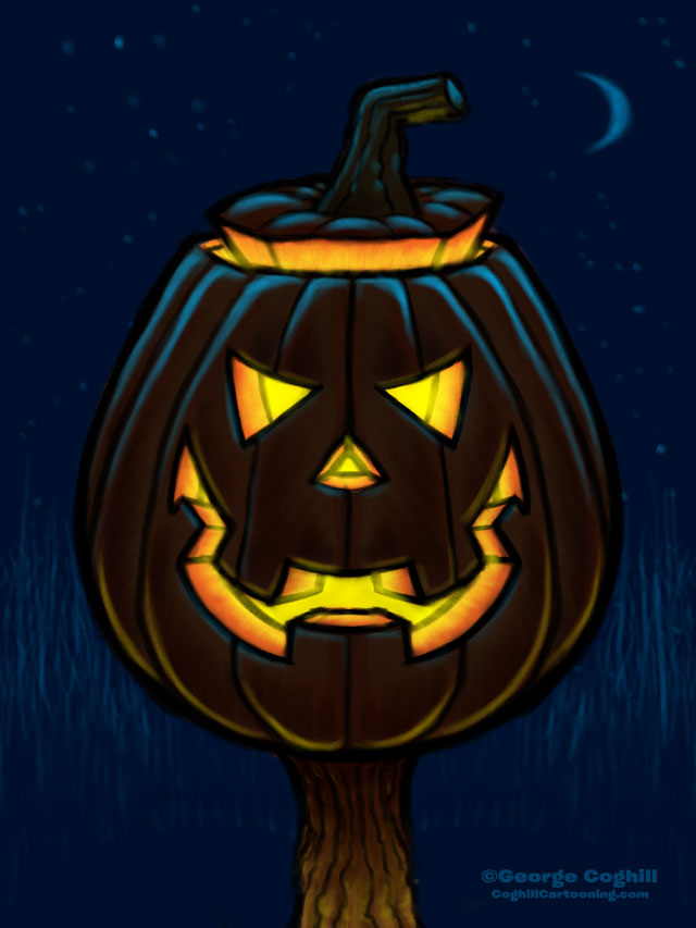 Jack O' Lantern Cartoon Character Sketch