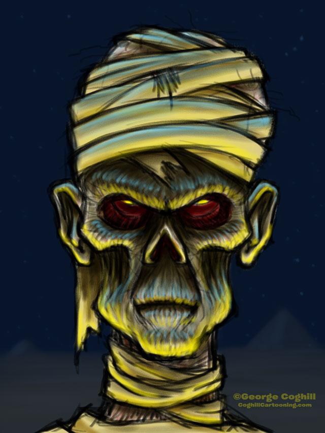 The Mummy Cartoon Character Sketch 01