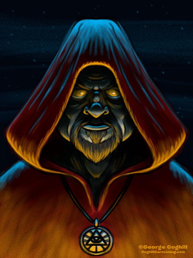 Cult Leader Cartoon Character Sketch