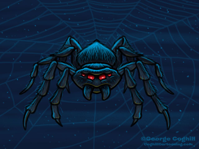 Spider Cartoon Character Sketch