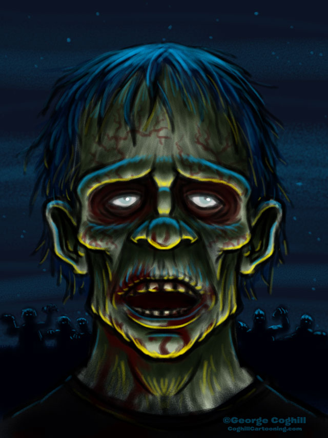 Zombie Cartoon Character Sketch