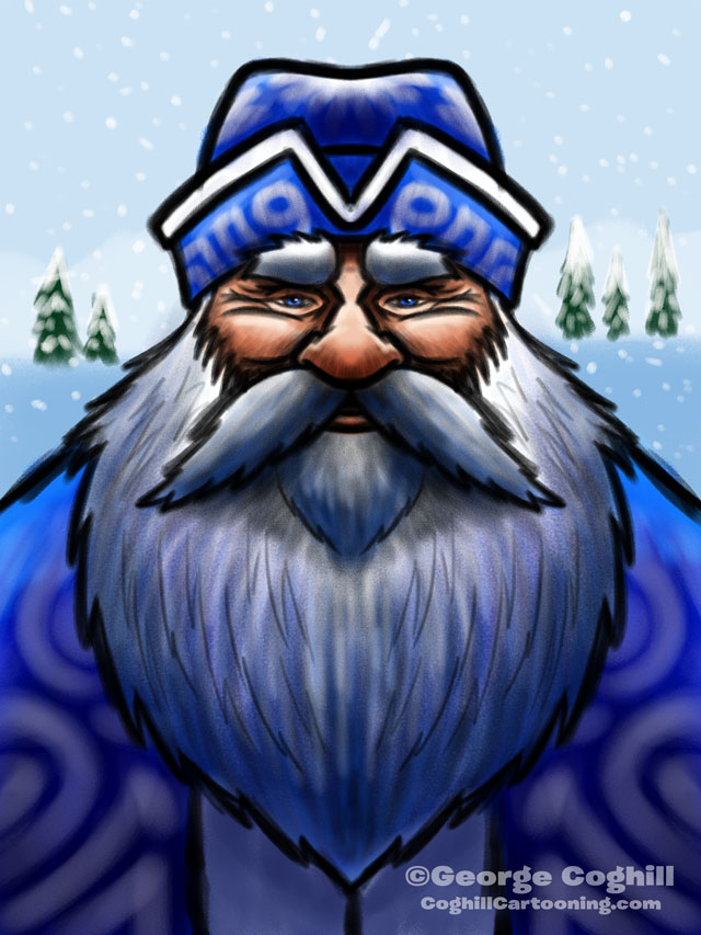 Ded Moroz Cartoon Character Sketch