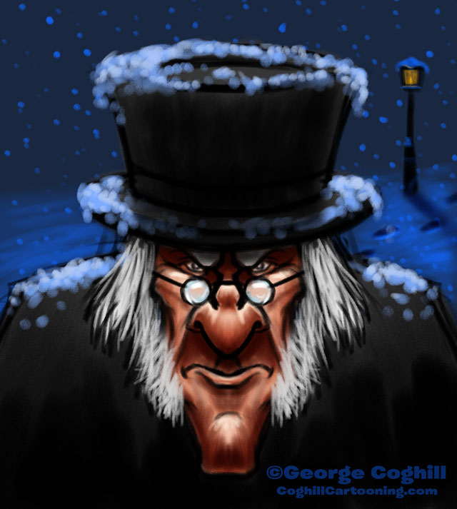 Ebenezer Scrooge Cartoon Character Sketch