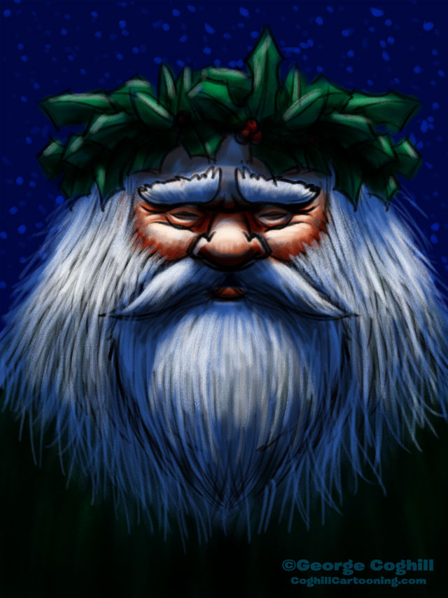 Father Christmas Cartoon Character Sketch