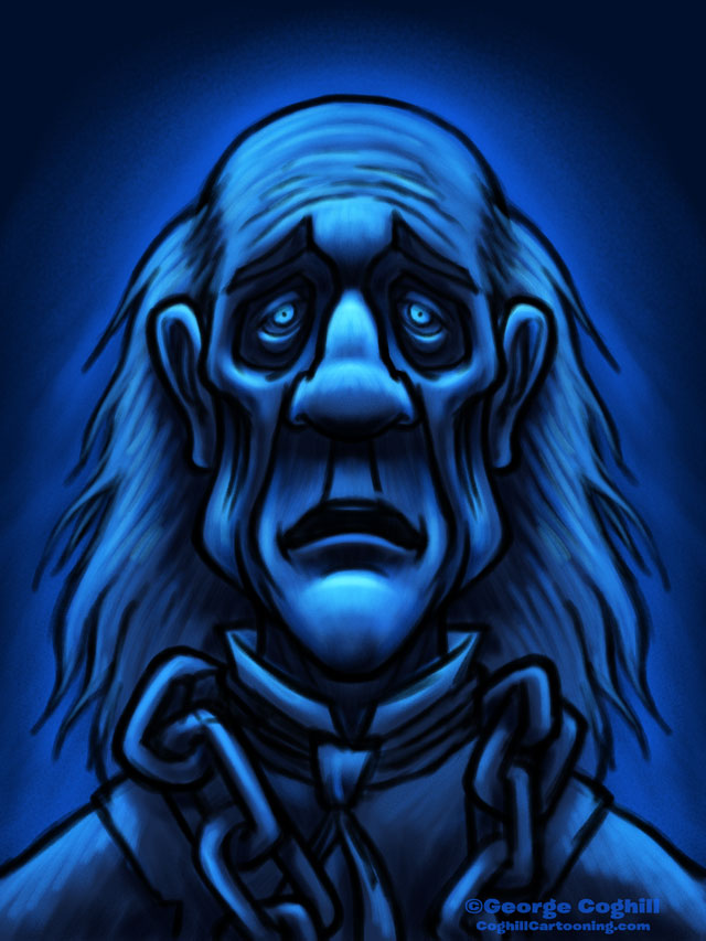 Ghost Of Jacob Marley Dickens Christmas Carol