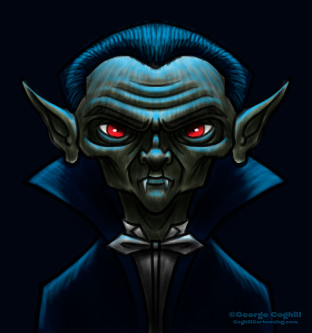 Movie Monsters: Dracula/Vampire Cartoon Character Sketch 03