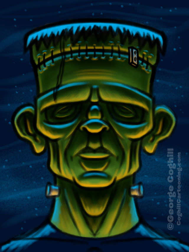 Movie Monsters - Frankenstein Cartoon Character Sketch