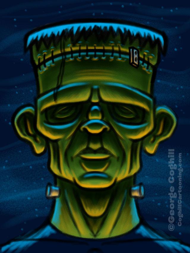 Movie Monsters - Frankenstein Cartoon Character Sketch