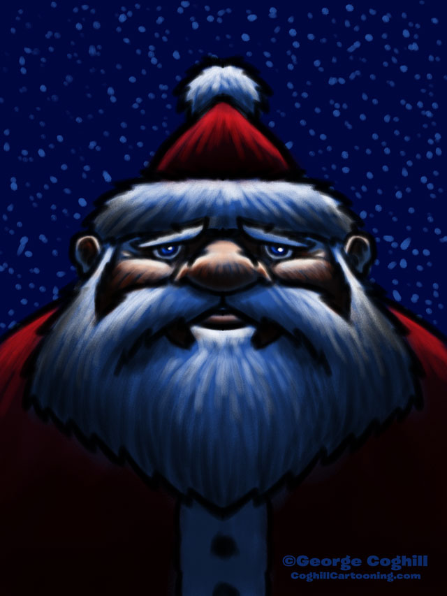 Santa Claus Cartoon Character Sketch