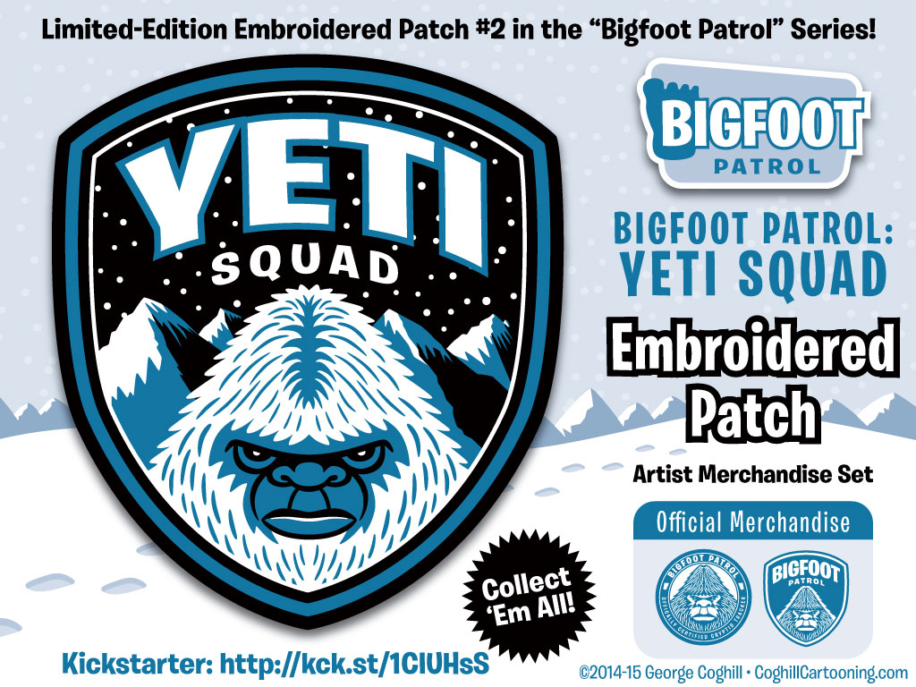 Yeti Squad Embroidered Patch & Membership Kit