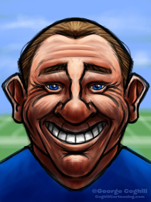 Football Coach Cartoon Character Sketch