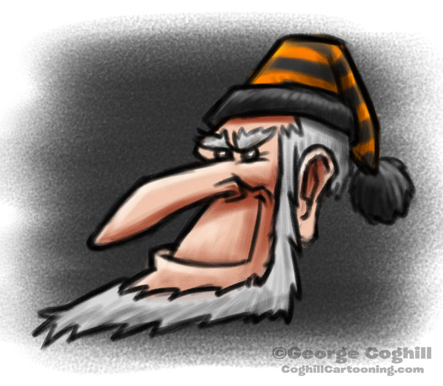 Halloween Scrooge Cartoon Character Sketch Coghill
