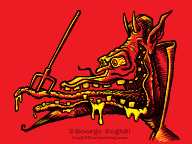 Monster Head Hot Rod Devil Sketch Coghill