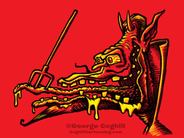 Monster Head Hot Rod Devil Sketch Coghill