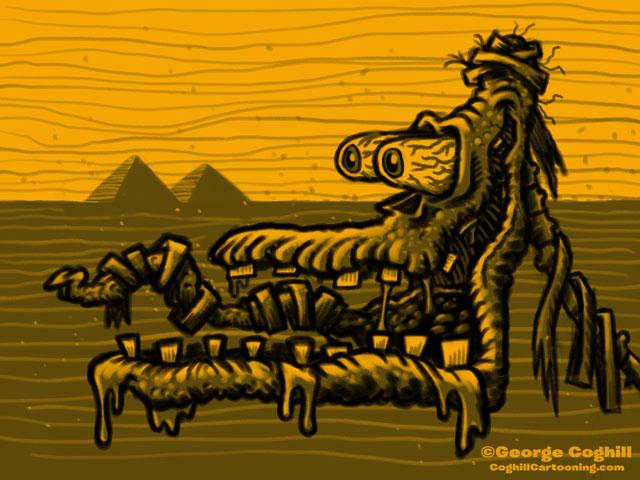 Monster Head Hot Rod Mummy Limited Palette Sketch