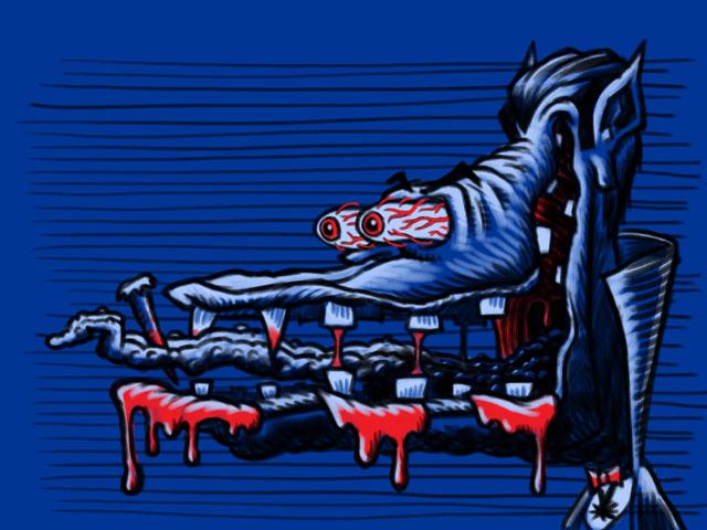 Monster Head Hot Rod Vampire Dracula Sketch