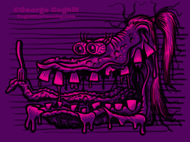 Monster Head Limited Palette Sketch 04