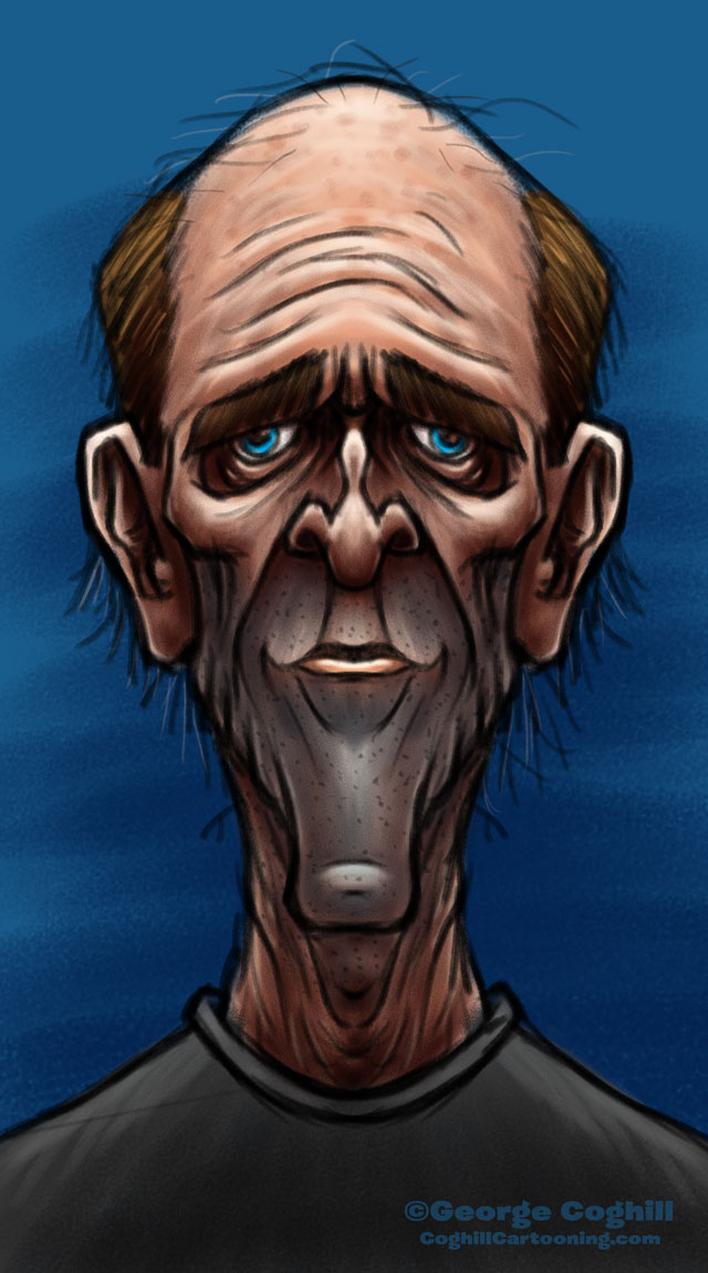 Old Man Cartoon Character Sketch Coghill