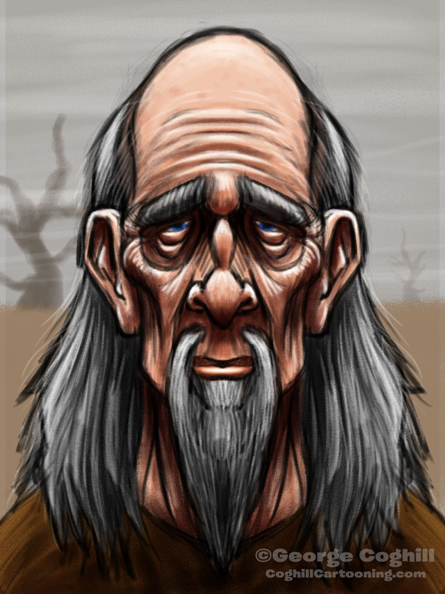 Wise Man Cartoon Character Sketch