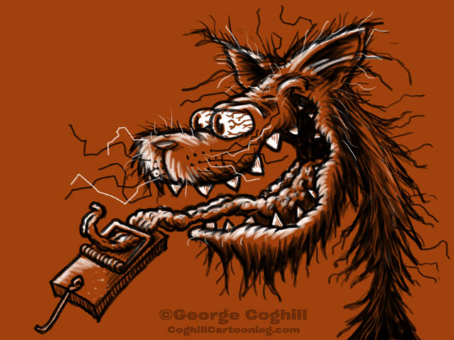 Monster Head Cartoon Crazy Cat Sketch Coghill