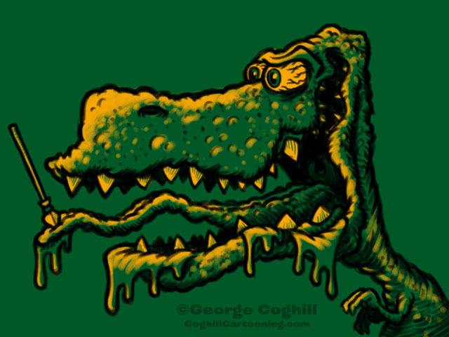 Monster Head Cartoon Dinosaur Sketch Coghill