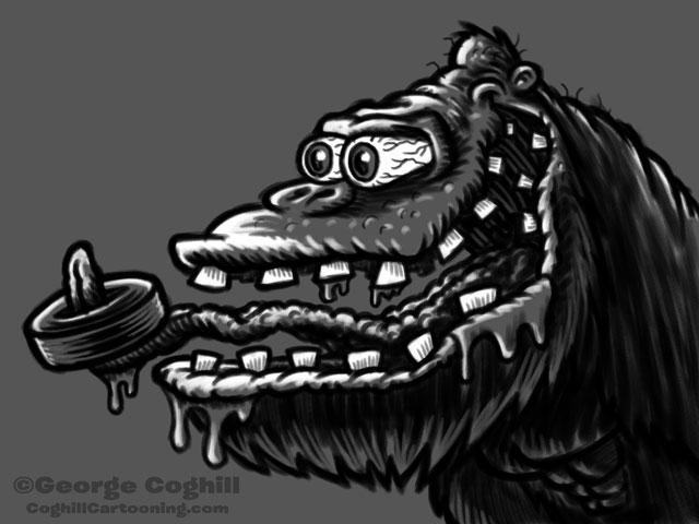 Monster Head Cartoon Gorilla Sketch Coghill