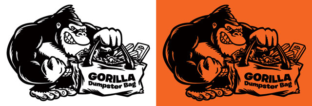 gorilla-dumpster-bags-cartoon-logo-illustration-one-color-coghill