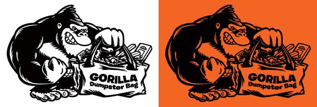 gorilla-dumpster-bags-cartoon-logo-illustration-one-color-coghill