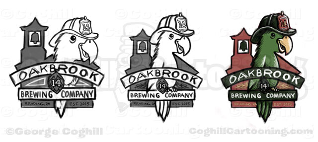 oakbrook-brewing-company-firefighter-parrot-cartoon-logo-rough-sketches-coghill