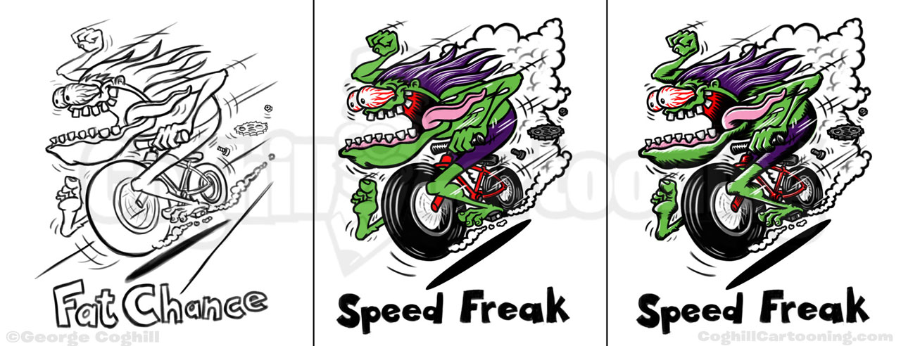 speed-freak-bicycle-hot-rod-t-shirt-cartoon-sketch-progress-coghill